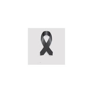 Saten Kurdale Siyah 3,5 cm